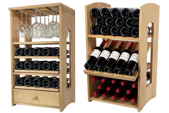 Tu colecci n de vinos se merece un buen botellero de - Vinotecas de madera ...