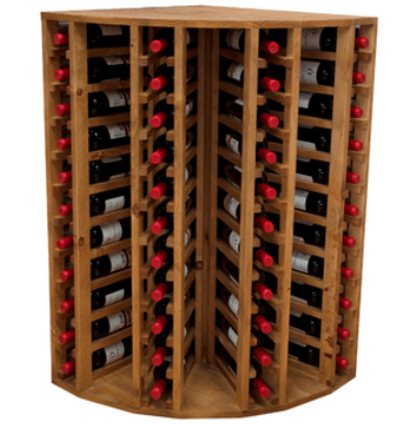 Botellero modular rinconero para 44 botellas blog - Botelleros de madera para vino ...